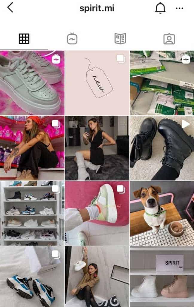 обувной бутик в инсте