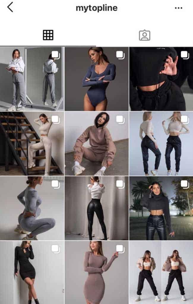 магазин одежды в instagram