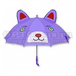 Зонт-трость детский с ушками 3D