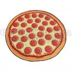 Пляжное полотенце Пицца