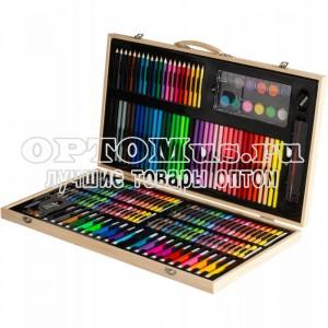 Набор для рисования 180 предметов в деревянном кейсе оптом
