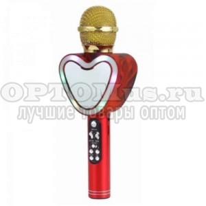 Беспроводной Bluetooth микрофон Q5 зеркальное сердце оптом