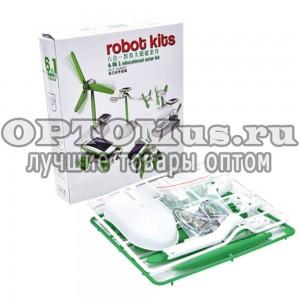Конструктор на солнечных батареях Robot Kits 6 в 1 оптом