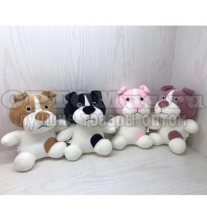Мягкая игрушка плюшевая собачка 20 см оптом