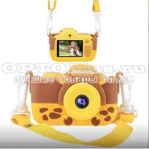Детский фотоаппарат Kids Cam Жираф оптом