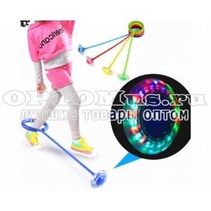 Нейроскакалка на одну ногу со светящимся LED роликом оптом