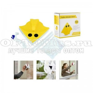 Магнитная щетка для мытья окон Double-sided Glass Cleaner оптом