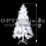 Новогодняя елка белоснежная (90 см)