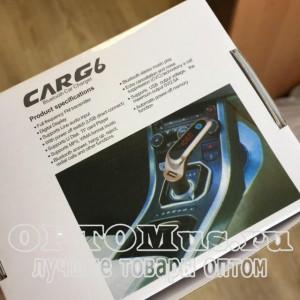 FM-модулятор CarG6 черный оптом
