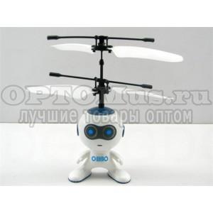 Игрушка Летающий робот (белый) с пультом оптом