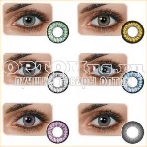Цветные контактные линзы Huda Beauty оптом.