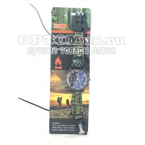 Часы - браслет для выживания Paracord Fire Starter Bracelet оптом