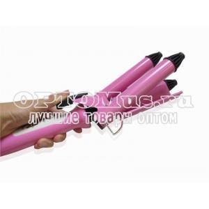 Тройная плойка щипцы для локонов Professional Hairdressing Junjun Electrical JJ-928 оптом