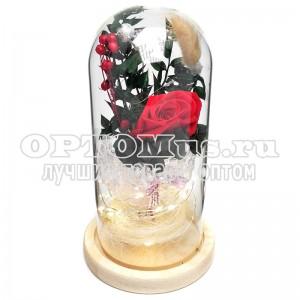 Роза в колбе с подсветкой оптом