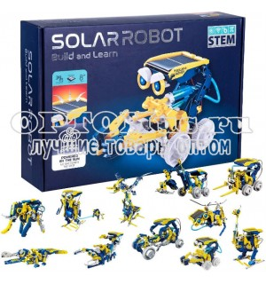 Конструктор на солнечной батарее Solar Robot Build and Learn 11 в 1 оптом.