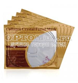 Коллагеновая маска для лица Collagen Cristal Facial Mask 60г (белая) оптом