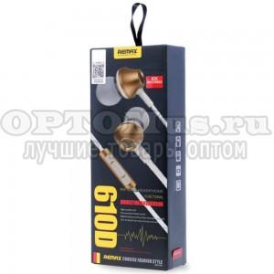 Вставные наушники с гарнитурой Remax RM-610D оптом