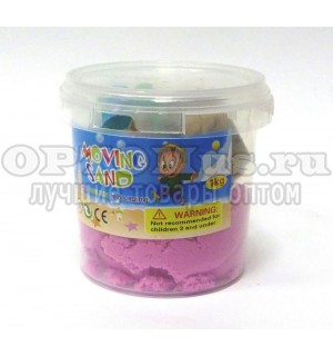 Кинетический живой песок Kinetic Sand 1кг в ведре оптом